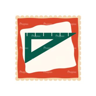 Back To School Vector Set 11 Vector Ruler Clip Art - SVG & PNG vector