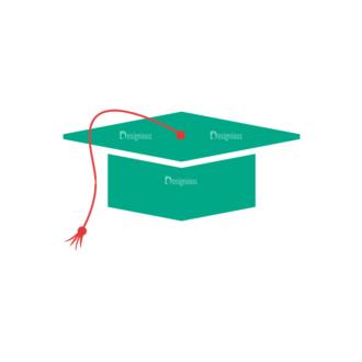 Back To School Vector Set 12 Vector Graduation Cap Clip Art - SVG & PNG vector