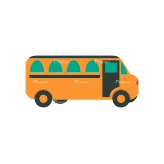 Back To School Vector Set 12 Vector School Bus Clip Art - SVG & PNG vector