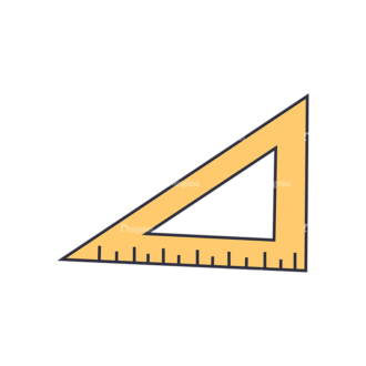 Back To School Vector Set 123 Vector Ruler Clip Art - SVG & PNG vector
