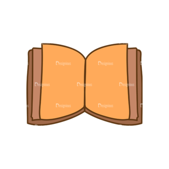 Back To School Vector Set 13 Vector Book Clip Art - SVG & PNG vector