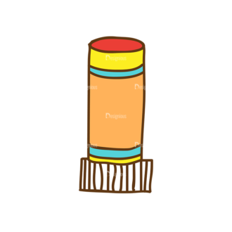 Back To School Vector Set 13 Vector Eraser Clip Art - SVG & PNG vector