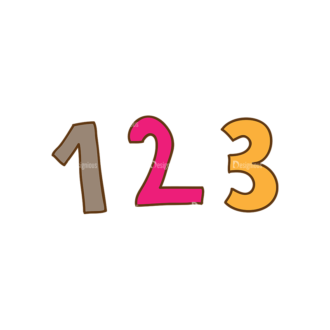 Back To School Vector Set 13 Vector Numbers 27 Clip Art - SVG & PNG vector