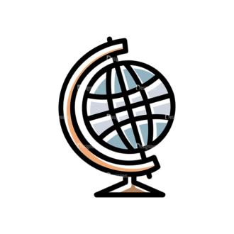 Back To School Vector Set 15 Vector Globe Clip Art - SVG & PNG vector