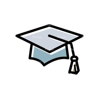 Back To School Vector Set 15 Vector Graduation Cap Clip Art - SVG & PNG vector