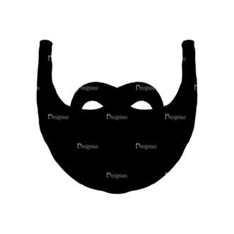 Barber Shop Set 15 Vector Mustach 03 Clip Art - SVG & PNG vector
