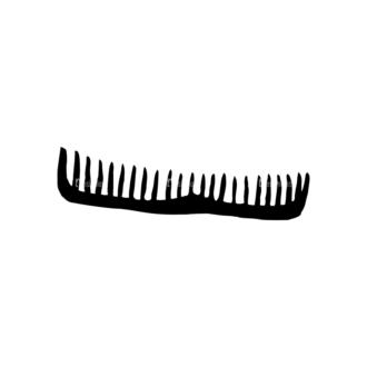Barber Shop Set 15 Vector Comb Clip Art - SVG & PNG vector
