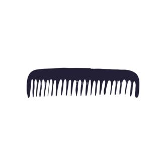 Barber Shop Vintage Vector Set  Vector Small Comb Clip Art - SVG & PNG vector