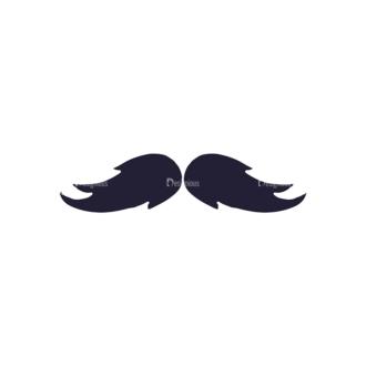 Barber Shop Vintage Vector Set  Vector Small Mustache Clip Art - SVG & PNG vector