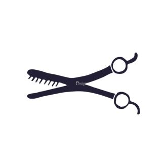 Barber Shop Vintage Vector Set  Vector Small Scissor Clip Art - SVG & PNG vector