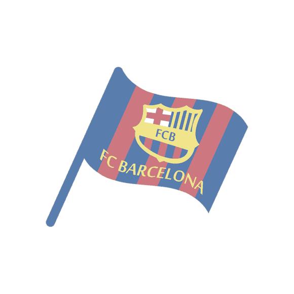 Barcelona Vector Flag 1