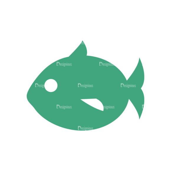Beach Vector Icons Vector Fish 5