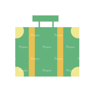 Beach Vector Icons Vector Luggage Bag 04 Clip Art - SVG & PNG vector