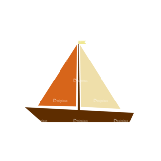 Beach Vector Icons Vector Sail Boat 15 Clip Art - SVG & PNG vector