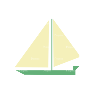 Beach Vector Icons Vector Sail Boat 20 Clip Art - SVG & PNG vector