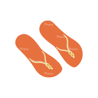 Beach Vector Icons Vector Slippers Clip Art - SVG & PNG vector