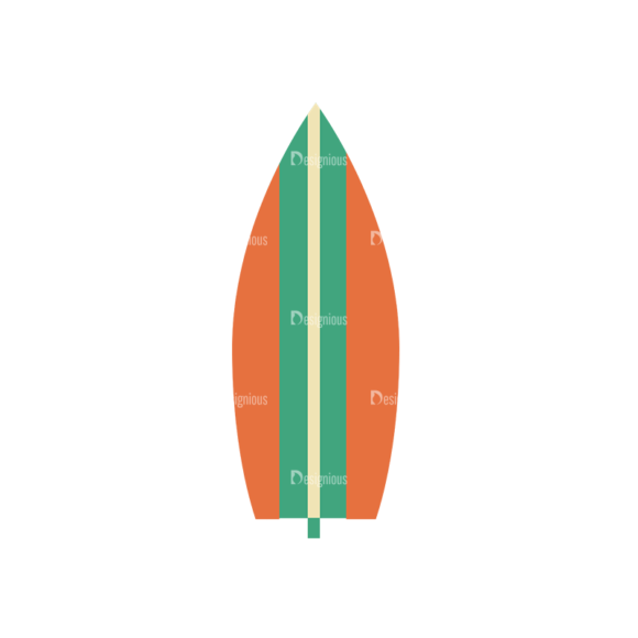 Beach Vector Icons Vector Surfing Board 1