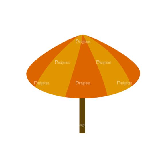 Beach Vector Icons Vector Umbrella 1