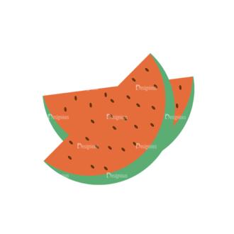 Beach Vector Icons Vector Watermelon Clip Art - SVG & PNG vector