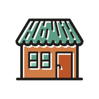 Building Icons Set 3 Vector House 07 Clip Art - SVG & PNG building