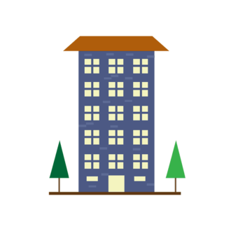 Buildings Vector Set 2 Vector Building 08 Clip Art - SVG & PNG building