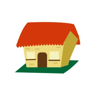 Buildings Vector Set 2 Vector House 04 Clip Art - SVG & PNG vector