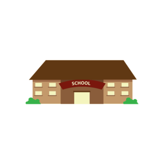 Buildings Vector Set 2 Vector School Clip Art - SVG & PNG vector
