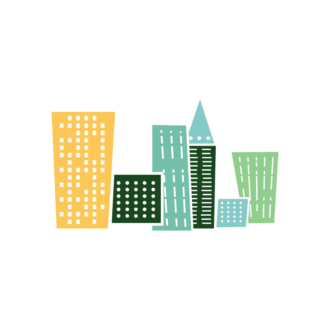 Buildings Vector Set 4 Vector Buildings 01 Clip Art - SVG & PNG vector