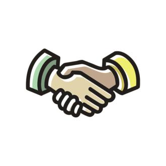 Business Doodles Vector Set 5 Vector Handshake Clip Art - SVG & PNG vector