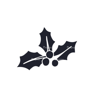 Christmas Day Elements Set 1 Vector Small Mistletoe Clip Art - SVG & PNG vector