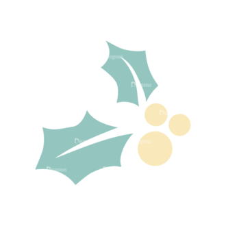 Christmas Elements Vector Set 7 Vector Mistletoe Clip Art - SVG & PNG vector