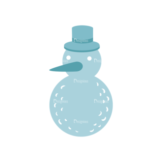 Christmas Elements Vector Set 7 Vector Snowman11 Clip Art - SVG & PNG vector