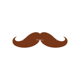 Christmas Hipster Elements Vector Set 2 Vector Mustache 02 Clip Art - SVG & PNG vector