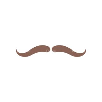 Christmas Hipster Elements Vector Set 2 Vector Mustache 05 Clip Art - SVG & PNG vector