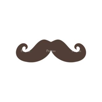 Christmas Hipster Elements Vector Set 2 Vector Mustache 07 Clip Art - SVG & PNG vector