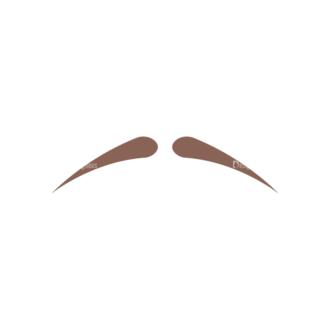 Christmas Hipster Elements Vector Set 2 Vector Mustache 15 Clip Art - SVG & PNG vector