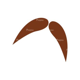 Christmas Hipster Elements Vector Set 2 Vector Mustache 16 Clip Art - SVG & PNG vector
