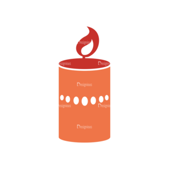 Christmas Holiday Icons Vector Set 1 Vector Candle Clip Art - SVG & PNG vector