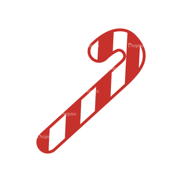 Christmas Holiday Icons Vector Set 1 Vector Candy Cane 1