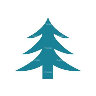 Christmas Holiday Icons Vector Set 1 Vector Christmas Tree Clip Art - SVG & PNG tree