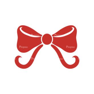 Christmas Holiday Icons Vector Set 1 Vector Ribbon Clip Art - SVG & PNG vector