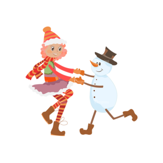 Christmas Kids And Animals Vector Kids 15 Clip Art - SVG & PNG vector