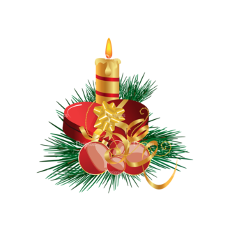 Christmas Vector Candles Vector Candle 01 Clip Art - SVG & PNG vector