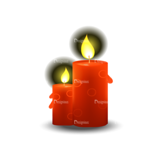 Christmas Vector Candles Vector Candle 02 Clip Art - SVG & PNG vector