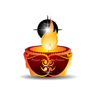 Christmas Vector Candles Vector Candle 04 Clip Art - SVG & PNG vector