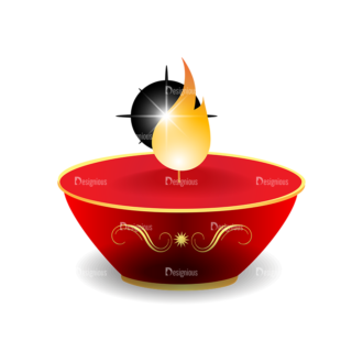 Christmas Vector Candles Vector Candle 07 Clip Art - SVG & PNG vector
