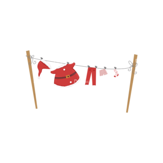 Christmas Vector Santa Vector Santas Clothes Clip Art - SVG & PNG vector