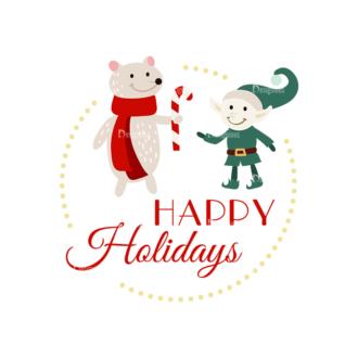 Christmas Vector Set 16 Vector Happy Holiday Clip Art - SVG & PNG vector