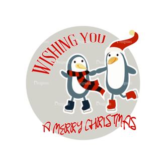 Christmas Vector Set 16 Vector Wishing You Clip Art - SVG & PNG vector