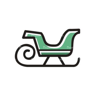 Christmas Vector Set 19 Vector Santas Sleigh Clip Art - SVG & PNG vector